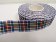 Dress Stewart White Tartan Ribbon 2 metres or 25 metres (Full Roll) double sided scotish 12mm, 16mm, 25mm & 38mm